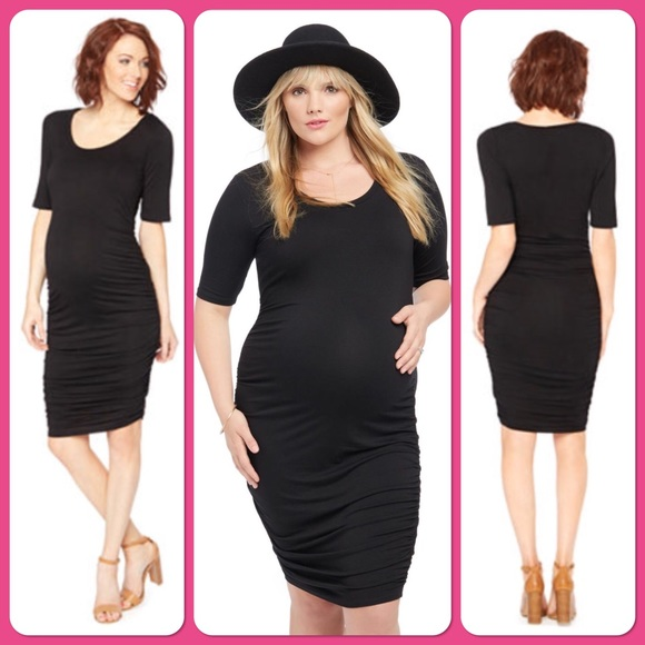 9d95f991e4 Motherhood maternity black bodycon dress SZ small.  M 5a66bdd1d39ca2d8520ddda4